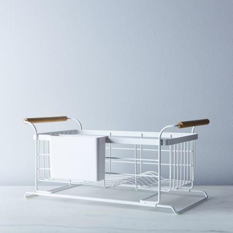 Yamazaki Over The Sink Wood Handled Dish Rack