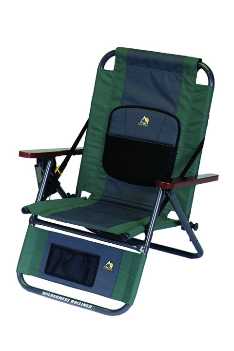 100 Reclining Folding Camp Chair With Footrest