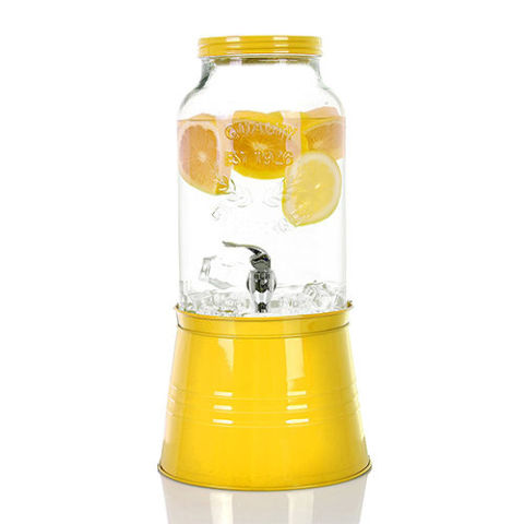 simple flow 15gallon large glass single mason jar beverage drink dispenser - Drink Dispensers