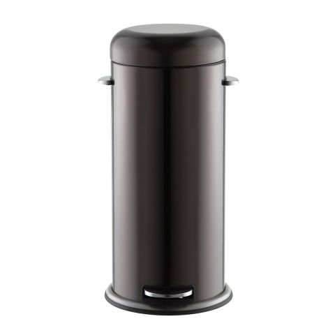 the container store stainless steel retro trash can