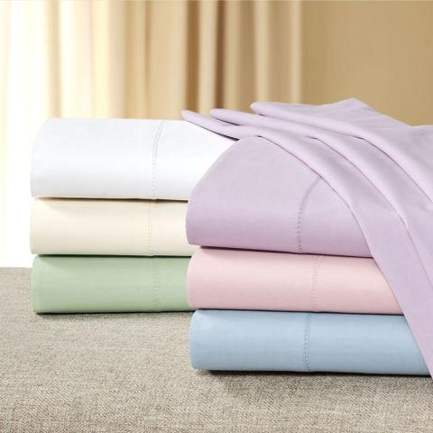 cuddledown organic cotton percale sheet set