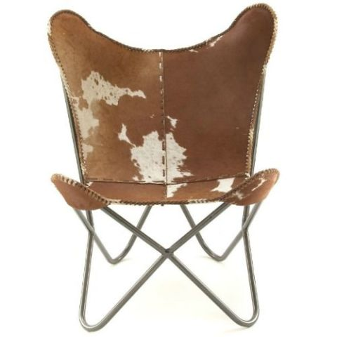 decmode leather hide chair