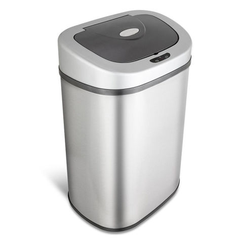 nine stars dzt804 infrared touchless stainless steel trash can