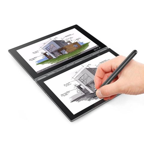 $315 BUY NOW  The Lenovo Yoga Book's defining feature is its Halo keyboard that can transform into a large touch-sensitive surface when you don't need it. You can take notes and draw on it with the bundled stylus pen, or even digitize your paper-writing in real time by placing the sheet on top of the surface. A sharp screen, Lenovo's signature 360-degree Yoga hinge, and top-notch build quality round up the Yoga Book's noteworthy features.