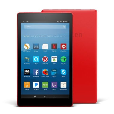 from $80 BUY NOW  The 8-inch Amazon Fire HD 8 tablet has stereo speakers with Dolby Atmos support, which make it perfect for entertainment on the go. Available in four colors (black, blue, red, and yellow), the tablet also comes with Amazon Alexa support out of the box, giving you the option to enjoy news and media content, as well as control smart home devices with your voice. Like all Amazon hardware products, the Fire HD 8 tablet has solid build quality.