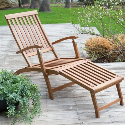 coral coast dorado acacia steamer deck lounge chair