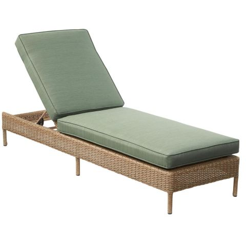Hampton Bay Lemon Grove Wicker Outdoor Chaise Lounge