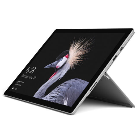 from $799 BUY NOW The latest Surface Pro by Microsoft is a Windows 10 PC powerhouse tucked into the body of a thin tablet. With an adjustable kickstand and optional Surface Pen and keyboard cover, the Surface Pro can quickly transform from a serious work tool to an entertainment device and back.