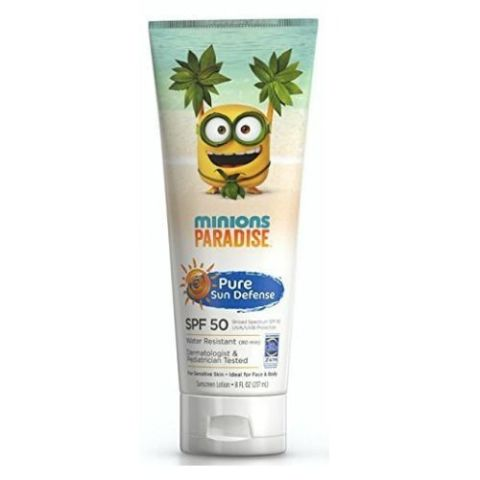 Pure Sun Defense Minions Paradise Sunscreen Lotion SPF 50