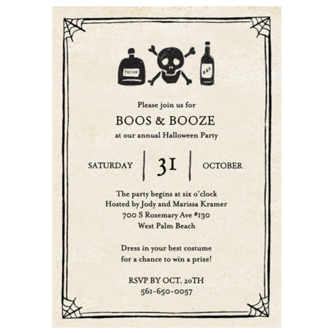 15 Best Halloween Invitations for 2017 Fun Halloween Party Invites – Best Party Invite