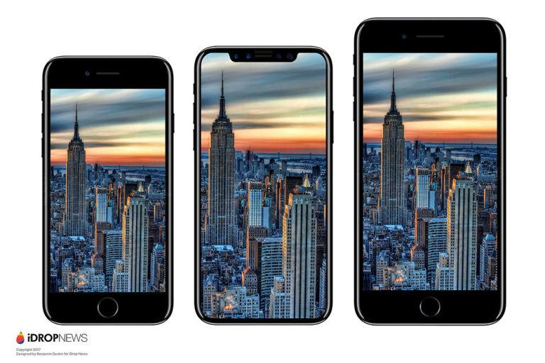 iPhone 8 alleged comparison