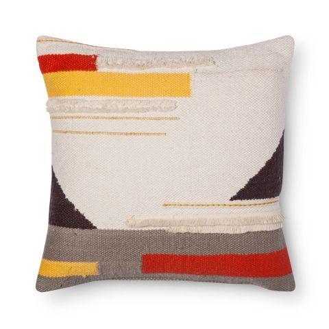 threshold color block throw pillow