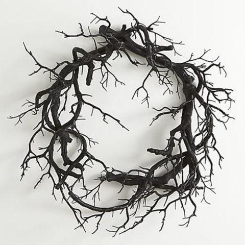crate u0026 barrel halloween branch wreath