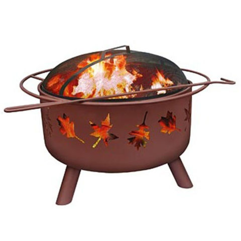 Plow U0026 Hearth Outdoor Fire Pit With Tree Leaves Cutouts