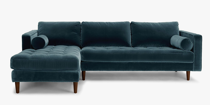Plush Velvet Sofa Navy Blue Velvet Sofa Wayfair Thesofa