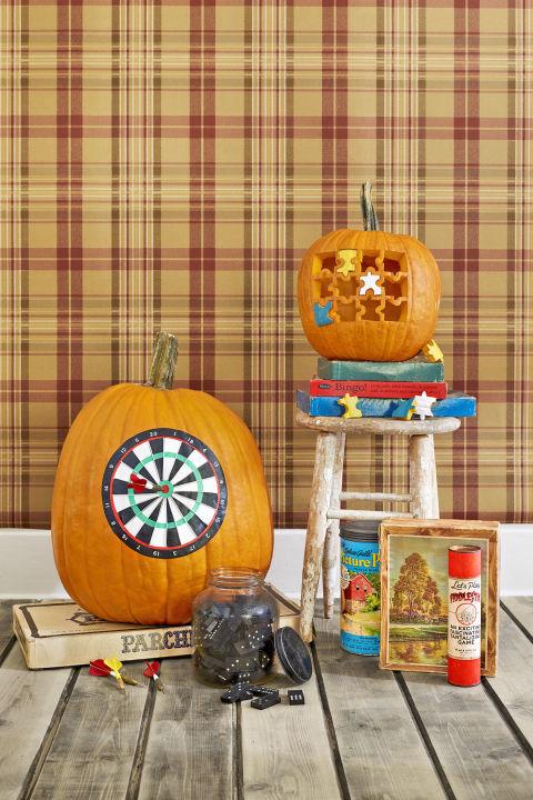 dartboard pumpkin