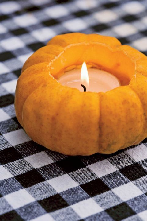 this idea from country living doesnu0027t require carving as much as it does just a few scoops use a melon baller to scoop about an inch into a mini pumpkin