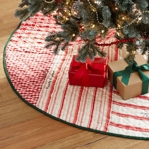 pottery barn patchwork quilt tree skirt - 10 Christmas Tree