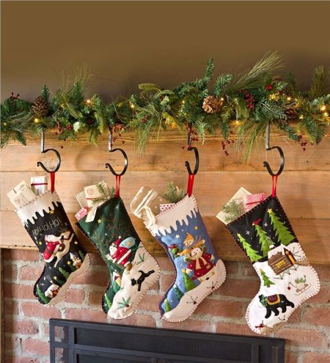 Picture frame stocking hanger that
