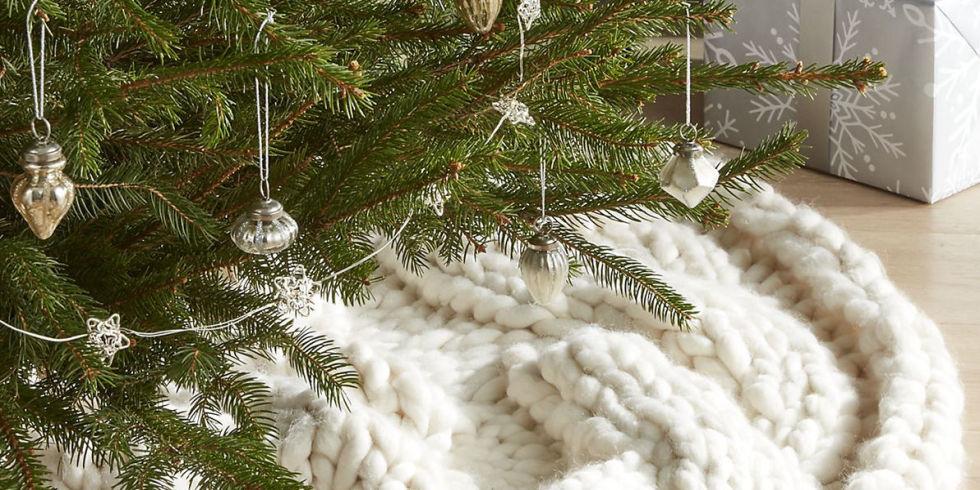 christmas tree skirt - White Christmas Tree Skirt
