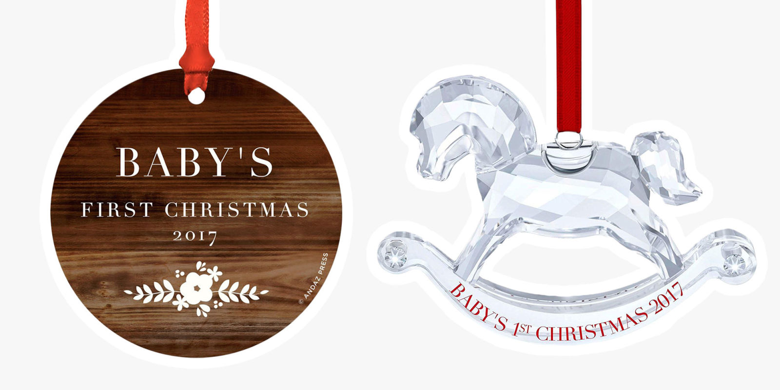 13 best baby 39 s first christmas ornament ideas for 2018 for Personalized christmas photo ornaments