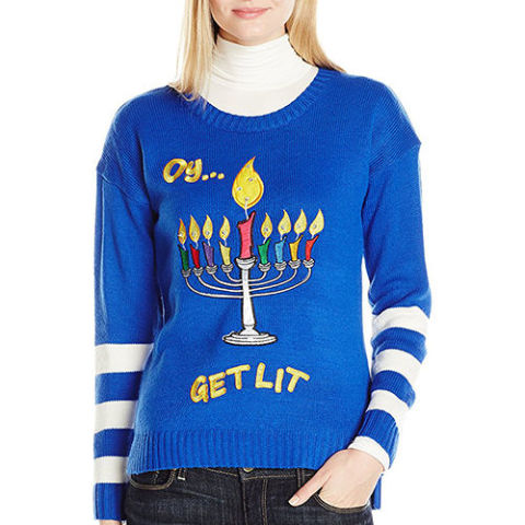 Blue And White Christmas Sweater.10 Best Ugly Hanukkah Sweaters For 2017 Funny Hanukkah