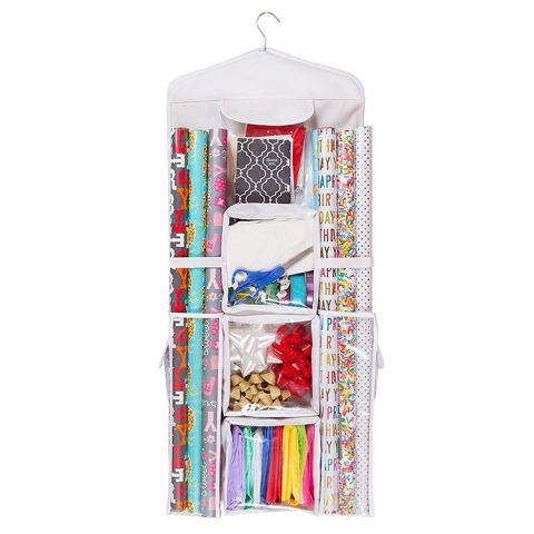 Organizer Designs Double Sided Hanging Gift Wrap U0026 Bag Organizer Storage