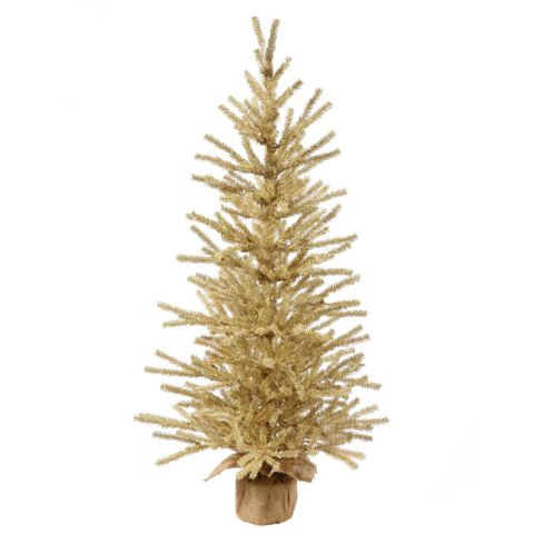 vickerman champagne gold tinsel artificial christmas tree - Gold Christmas Tree