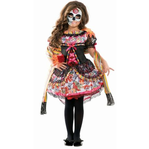 largemouth day of the dead sugar skull costume