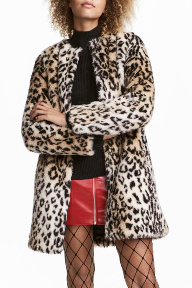 12 Best Leopard Coats For Winter 2018 Leopard Print Fur