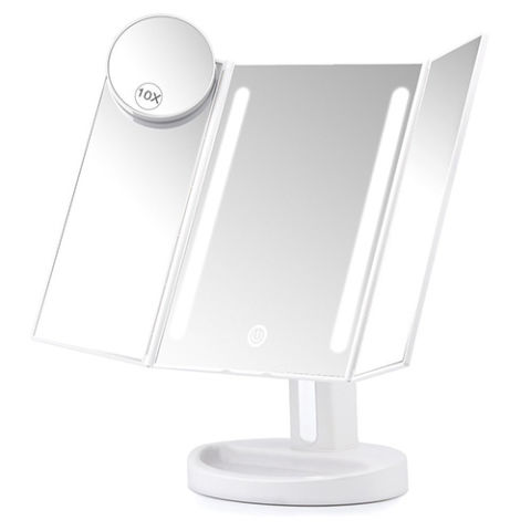 square vanity mirror with lights. Herwiss Lighted Vanity Makeup Mirror 12 Best Mirrors in 2017  and