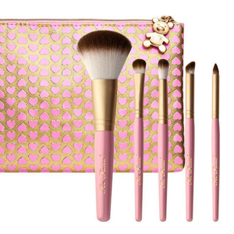 full makeup brush set. too faced teddy bear hair 5-piece makeup brush set full f