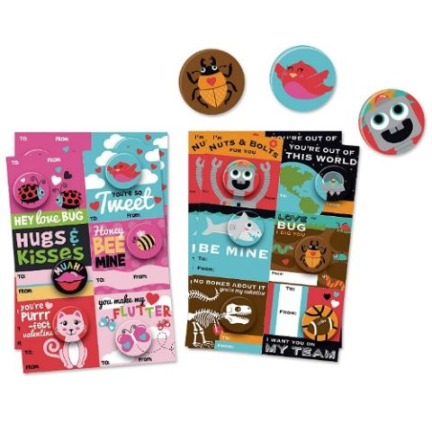 b there school valentines day cards with buttons - Best Valentines