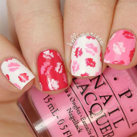 9 best valentines day nails for 2018 cute valentines day nail kiss kiss by kellimarissa prinsesfo Images