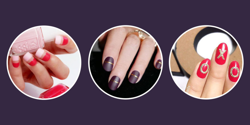 9 best valentines day nails for 2018 cute valentines day nail valentines day nail art prinsesfo Choice Image