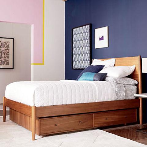 West Elm Mid-Century Storage Bed