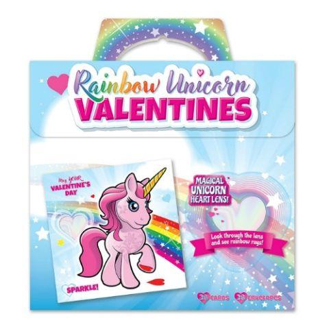 kangaroos rainbow unicorn valentines cards