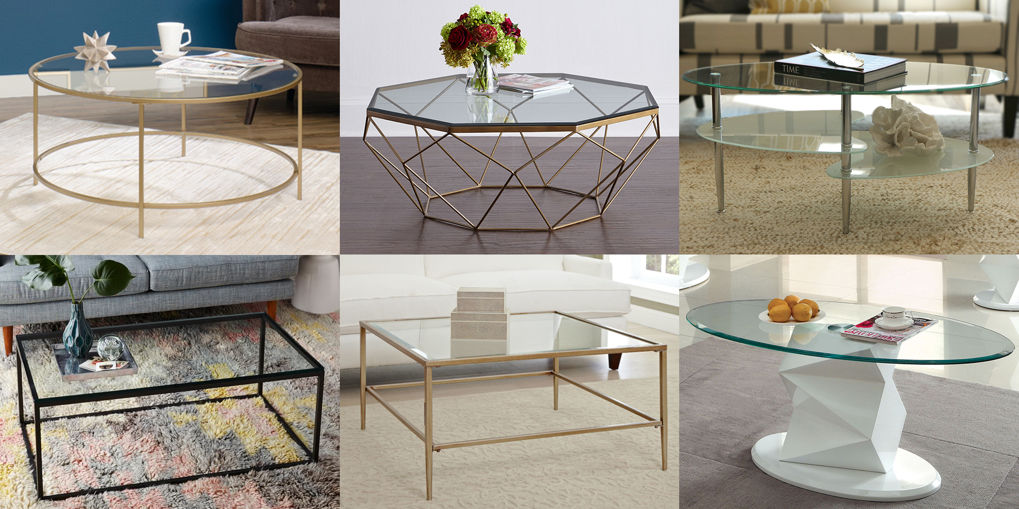 Coffee table designs 2018 decorationy for Glass living room table