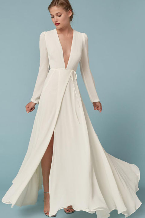 wedding wrap dress   Wedding